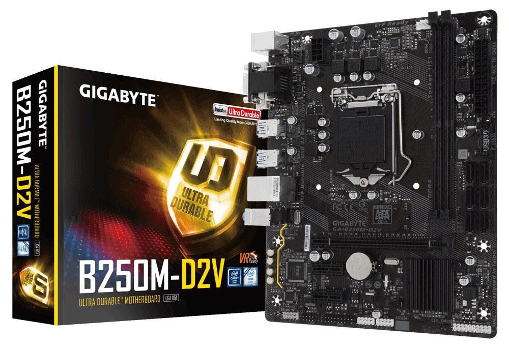 Main Gigabyte GA-B250M-D2V (Chipset Intel B250/ Socket LGA1151/ VGA onboard)