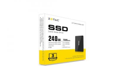 Ổ SSD Zotac T400 240Gb SATA3 (đọc: 550MB/s /ghi: 500MB/s)
